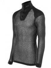 Funkčný Rolák BRYNJE Wool Thermo Zip-polo - čierna