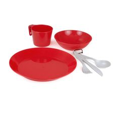 GSI Outdoors Cascadian 1 Person Table Set - Red