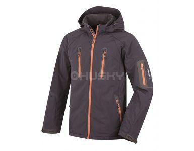 Husky pánska bunda Bristel New - antracit oranžová