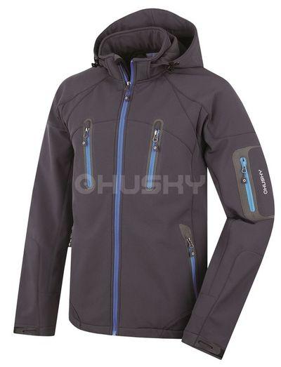 Softshellová bunda Husky Bristel New - antracit/modra