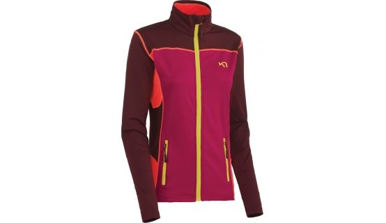 Kari Traa Lina F/Z Fleece - Ruby