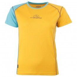 La Sportiva MR Event Tee Woman - blue/yellow