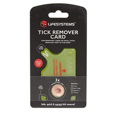 Lifesystem Tick Remover Card
