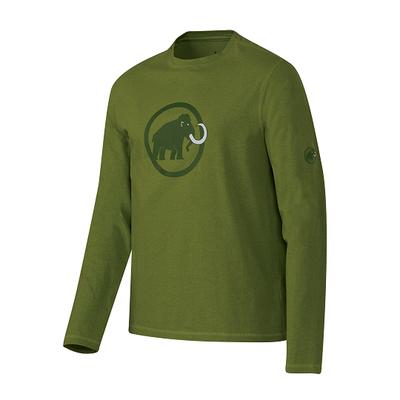 Mammut Logo Longsleeve Men - seaweed/melange