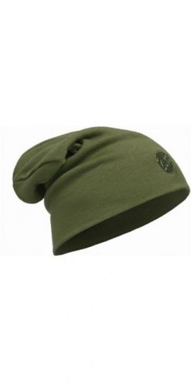 Merino wool thermal hat buff - solid cedar
