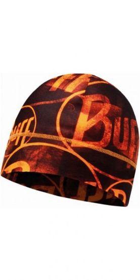 Buff Microfiber 1 layer hat buff - multi logo/orange fluor