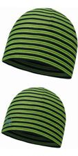 Buff Microfiber 2 layer hat - yellow fluor stripes