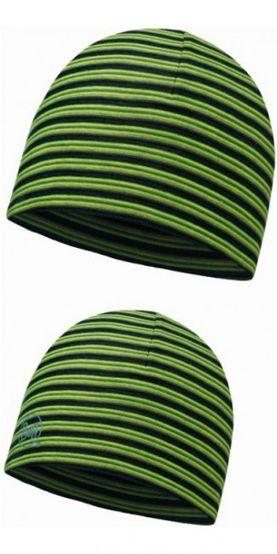 Buff Microfiber 2 layer hat - yellow fluor stripes