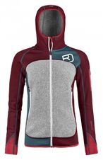 Mikina Ortovox W´s Fleece Plus Hoody - dark blood