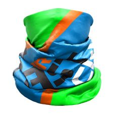 Nákrčník Crazy Idea Neck Gaiter Light - Green Fluo Wild Blue Rebel