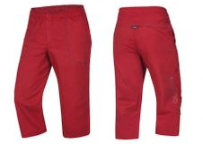 Krátke nohavice Ocún Jaws pants 3/4 - Garnet red