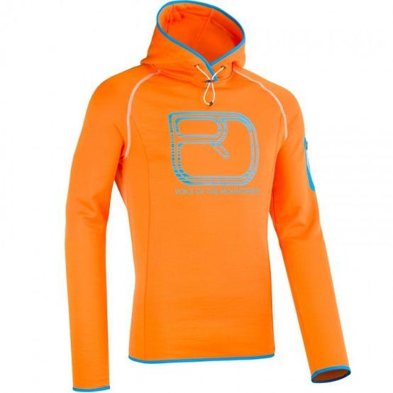 Ortovox Merino Fleece Logo Hoody - Orange