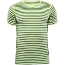 Devold Breeze Man Shirt - Lime Stripes