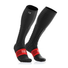 Podkolienky Compressport Full Socks & Recovery - black