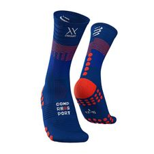 Ponožky Compressport Mid Compression Socks - blue