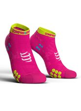 Ponožky Compressport Racing Socks V3.0 Run LO - fluo/pink