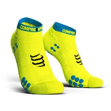 Ponožky Compressport Racing Socks V3.0 Run LO - fluo/yellow