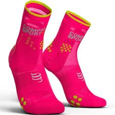 Ponožky Compressport Racing Socks V3.0 Running High - fluo pink