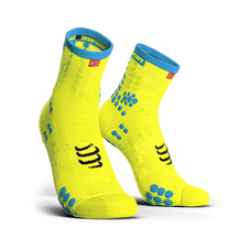 Ponožky Compressport Racing Socks V3.0 Running High - fluo yellow