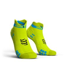 Ponožky Compressport Racing V3.0 Running Low - fluo yellow