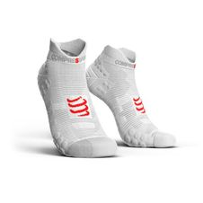 Ponožky Compressport Pro Racing Socks V3.0 Run Low - white