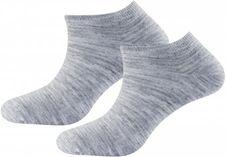 Ponožky Devold Daily Shorty sock 2PK - Grey Melange