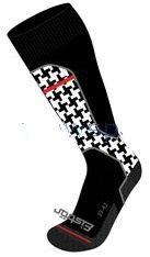 Ponožky Eisbär Ski Tech Light W - Black/White