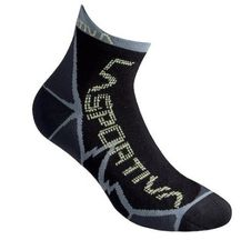Ponožky La Sportiva Long Distance Socks - Carbon/apple green