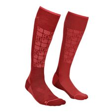 Ponožky Ortovox W´s Ski Compression Socks - dark blood