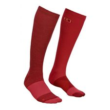 Ponožky Ortovox W´s Tour Compression Socks - dark blood
