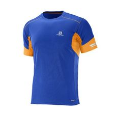 Salomon Agile SS Tee M - surf the way/bright