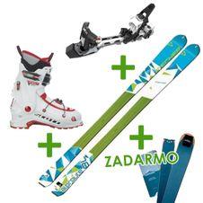Set Fischer Alproute + viazanie Hagan Z02 + lyžiarky Scott Orbit + pásy