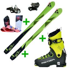 Set Fischer Transalp 80 17/18 + Fischer Travers + Fischer Tour Speed Turn + pásy Gecko
