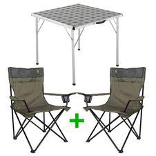 Set Kempingový stôl Coleman Square Table + 2x Coleman Standard Quad Chair