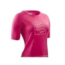 Tričko Compressport Training T-shirt Pink W