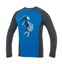 Tričko Directalpine Furry Long 1.0 - blue (hard ice)