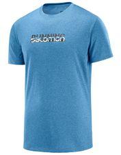 Tričko Salomon Agile Graphic Tee M - Flint Ston
