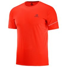 200573aab099 Tričko Salomon Agile SS Tee Fiery Red