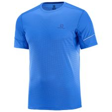 Tričko Salomon Agile SS Tee - Nautical blue