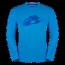Tričko Zajo Bormio T-shirt LS - ibiza blue nature