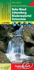 Turistická mapa 1:35T - Hohe Wand, Schneeberg, Biedermeiertal