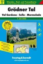 Turistická mapa 1:50T - Grodnertal, Val Gardena, Sella, Marmolad