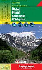 Turistická mapa 1:50T- Ötztal, Pitztal, Kaunertal, Wildspitze
