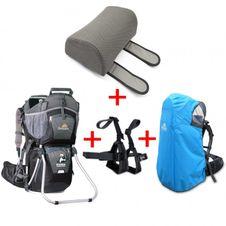 Turistický nosič Corazon Panda Čierny + pláštenka + stupačky + strieška+  opierka 9d42b4c9c33