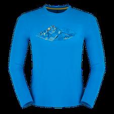 Tričko Zajo Bormio T-shirt LS - greek blue peak