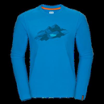 Zajo Bormio T-shirt LS - blue jewel nature