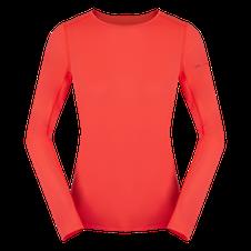 Termoprádlo Zajo Litio W T-shirt LS - fluo coral