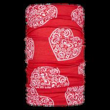 Multifunkčná šatka Zajo Unitube -racing red hearts