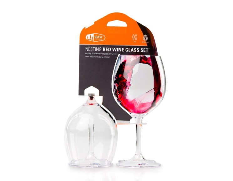 Set pohárov GSI Outdoors Nesting Red Wine Glass