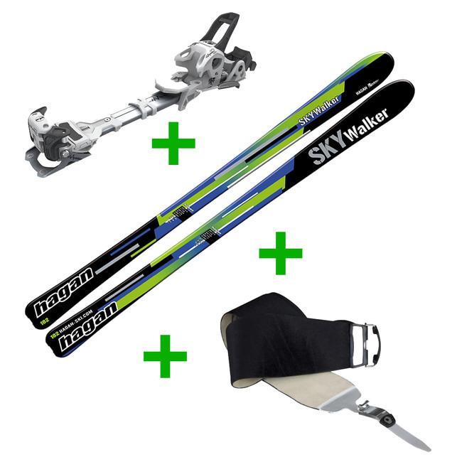 Set Skialpinistické lyže Hagan Skywalker + Viazanie Fischer Ambition 10 W/O Brake + Pásy Hagan Skywalker